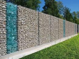 Gabion Fence Decorative Protection Partition Modern Fence Design Fence Design Gabion Fence