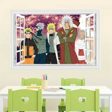 Naruto Japanese Amine Comic 3d Window Wall Stickers Vinyl Decal Home Bedroom Home Garden Children S Bedroom 3d Decor Decals Stickers Vinyl Art