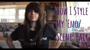 how i style my emo scene hair plus