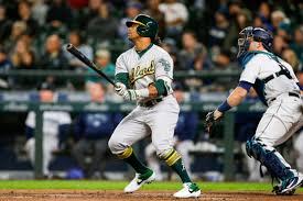 Oakland Athletics' Khris Davis leads MLB in home runs in 2018 season