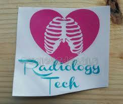 Personalized Radiology Tech Vinyl Decal Nuclear Medicine Radiography Nursing Car Decal Laptop Decal Fast Ship Radiology Tech Vinyl Decals Silhouette Diy