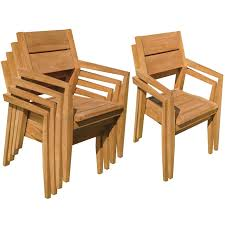 stacking teak patio dining chair
