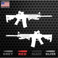 Oracal Tactical Ar15 M4 M16 Gun Rifle 556 Ammo Vinyl Window Decal Veteran Made In Usa