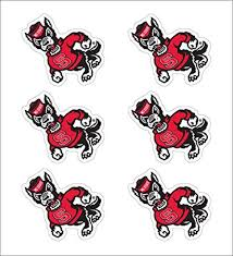 Amazon Com Nc State Strutting Wolfpack 1 Vinyl Decals Pack Of 6 Sports Outdoors