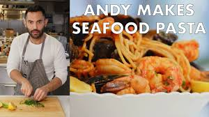 Andy Makes Seafood Pasta