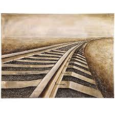 Railroad Tracks Canvas Art Print Kirklands