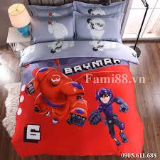 Chăn ga gối hình Baymax Big Hero - Ga trải giường trẻ em đẹp ...