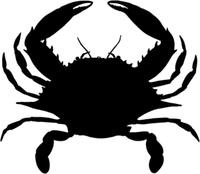 Fishing Decals Crab Decals Wildlife Decal