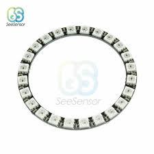 WS2812B RGB LED Vòng Đèn Tròn 24 Bit 65 Mm Module Dải Ánh Sáng RGB 24 Tích  Hợp Trình Điều Khiển 24 X WS2812 5050 Cho Arduino|