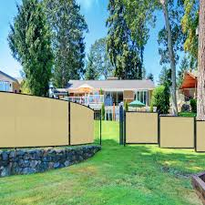 6 X 1 Privacy Fence Screen In Beige Tan With Brass Grommet 85 Blockage Windscreen Outdoor Mesh Fencing Cover Netting 150gsm Fabric Custom Size Outdoor Decor Decorative Fences