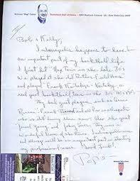 Pop Gates Autographed Letter Jsa Cert - Firmas De Corte Nba | Mercado Libre
