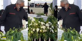 Rawling Pays Last Respect To Late Mother With Mahama Absent