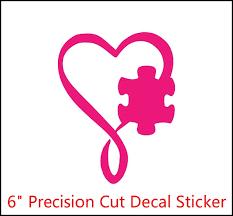 6 Autism Heart Infinity Puzzle Piece Autism Mom Autism Awareness Design Die Cut Decal Car Window Wall Bumper Phone Laptop Vinyl Sticker Cars Trucks Toolbox Wish