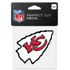 Kansas City Chiefs Official Nfl 4 Inch X 4 Inch Die Cut Car Decal By Wincraft Walmart Com Walmart Com
