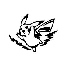 Electric Pikachu Pokemon Gaming Vinyl Sticker