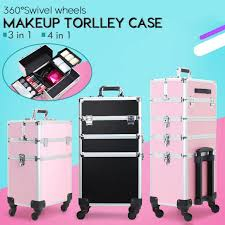nylon makeup trolley case with drawers