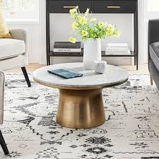 marble topped pedestal coffee table