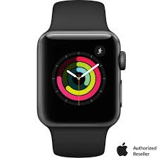 Apple Watch Series 3 Gps Space Gray Aluminum Case With Black Sport Band |  Wow Gifts
