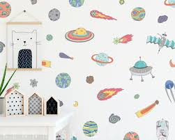 Wall Decals Outer Space Wall Decals Wall Decor Planet Decals Nursery Decor Gift For Kid Star Decal Reusable Wall Decals Kids Room