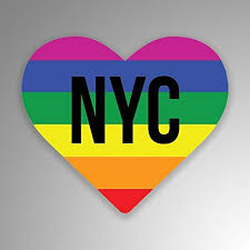 Amazon Com New York City Lgbt Pride State Laminated Vinyl Decal Sticker Car Waterproof Car Decal Bumper Sticker 5 Kitchen Dining