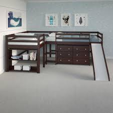 Luke L Shape Corner Loft Bed With Slide Custom Kids Furniture
