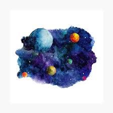 "Watercolour Space"" Metal Print by effydev | Redbubble"