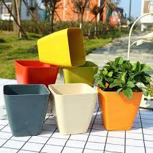 flowerpot potted planter terrace green