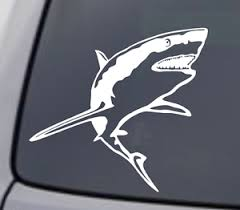 Great White Shark Vinyl Decal Car Window Wall Laptop Bumper Sticker Fish Jaws Ebay