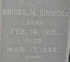 Abigail Simmons (1815-1888) - Find A Grave Memorial