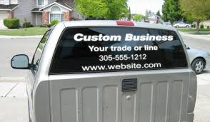 Rear Window Custom Business Name Decal For Trucks Cars Or Doors 4 Lines Usa Usps Rainbowlands Lk