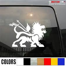 Lion Of Judah Decal Sticker Car Vinyl Rasta Rastafari Flag Jamaica Ethiopia C