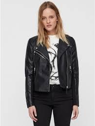vero moda collarless biker jacket