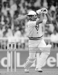 Kapil Dev batting for India during ...