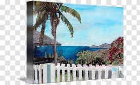 Painting Canvas Print Gallery Wrap Art White Fence Transparent Png