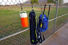Gorilla Fence Hooks For Baseball Softball Equipment Bat Bags Tennis Bags Water Bottle Ect 2 Pack Be Ready To Play