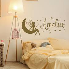 Name Wall Decal Girl Fairy Wall Decal Name Fairy Wall Etsy Girls Room Decor Name Wall Decals Personalized Girls Room