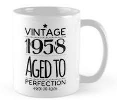 60 60th birthday small gift idea mug