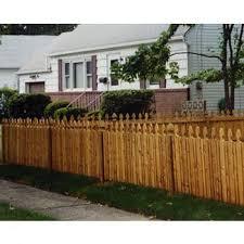 Cedar Picket Fence Garfield Style 3 High X 80 Linear Feet Wayside Fence Company