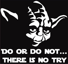 Choose Size Color Star Wars Jedi Sticker Yoda Do Or Do Not Vinyl Decal