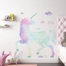 Isabelle Max Amettes Galaxy Unicorn Giant 17 Piece Wall Decal Set Reviews Wayfair