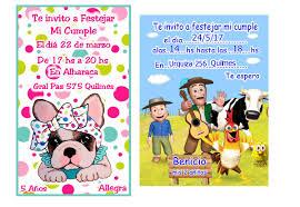 Invitaciones Tarjetas Cumpleanos Infantiles Digitales 50 00 En