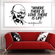 Mahatma Gandhi Where There Is Love Life Vinyl Wall Art Quote Sticker Ebay