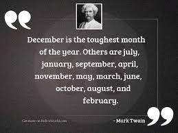 is the toughest month inspirational quote by mark twain