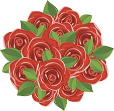 Amazon Com Dozen Red Rose Flower Bouquet Cartoon Icon Vinyl Decal Sticker 4 Wide Automotive