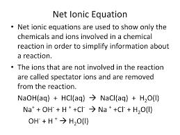 net ionic equation for sodium