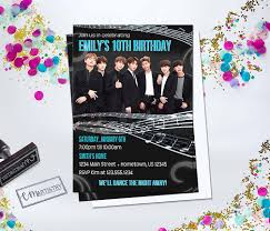 Personalized Bts K Pop Birthday Invitation Need Party Invitations