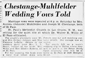 Chestange, Joseph Malcom & Aurora Perry Marriage, 1951 Texas -  Newspapers.com