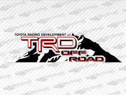 Toyota Trd Off Road Mountain Decal Stickers