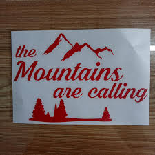 Camping Hiking Adventure The Mountains Are Calling Vinyl Decal Sticker For Car Home Garden Decor Decals Stickers Vinyl Art