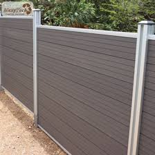 China The Garden Zone High Quality Wood Plastic Composite Private Fence China Fencing For Villa Garden Fence